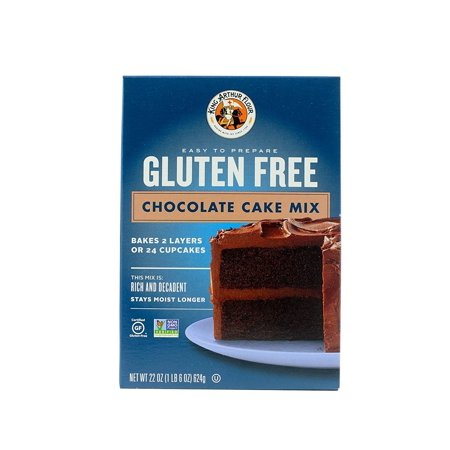 (2 Pack) King Arthur Flour Gluten Free Chocolate Cake Mix, 22 oz for $<!---->