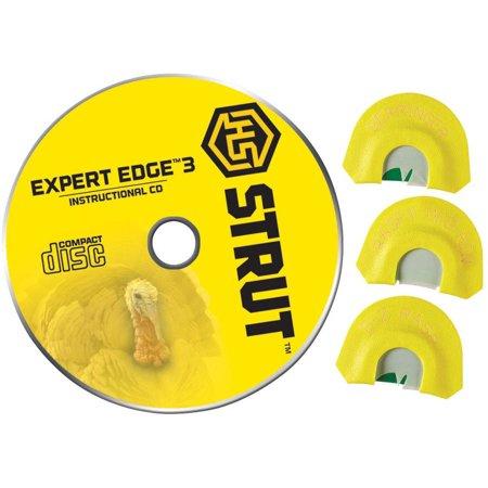 Expert Edge 3 Turkey Diaphragm Calls, H.S. Strut, 3-pack, Includes Instructional CD thumbnail