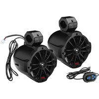 Boss Audio B62ABT Black 750W 2-Way Marine Grade Roll Cage Waketower Speaker Pods with Bluetooth Controller & Built In Amplifier
