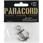 Paracord Charm -Silver Nautical Anchors 2/Pkg
