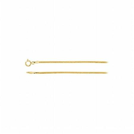 1.5 mm 14K Yellow Gold Herringbone Chain Necklace