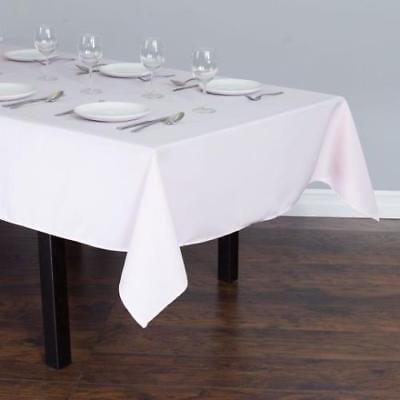 90 X 132 In Rectangular Polyester Tablecloth Light Pink