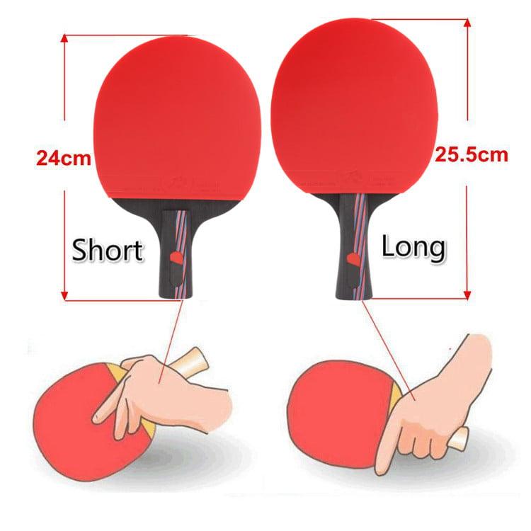 Carbon Fiber Table Tennis Racket Ping Pong Paddle Bat Long Short Handle /& Bag