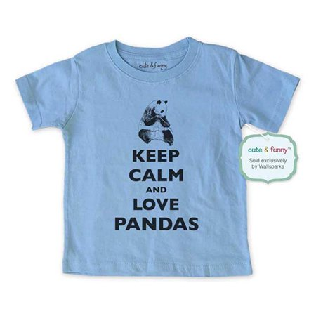 Keep calm and love Pandas - wallsparks cute & funny Brand - Soft Infant & Toddler Shirt (Panda Onsie)