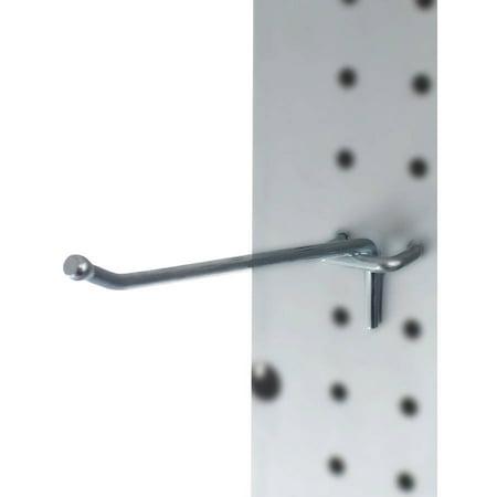 "Presa Heavy Duty Metal Peg Board Shelving Hooks, 6"", 50pk"