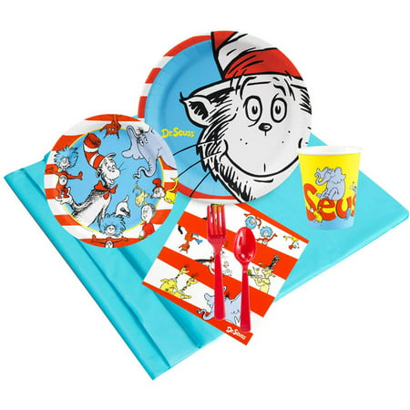 Dr. Seuss 24-Guest Party Pack (Dr Seuss Party Supplies 1st Birthday)