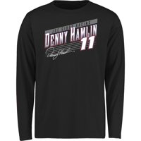 Denny Hamlin Youth Crank Shaft Long Sleeve T-Shirt - Black