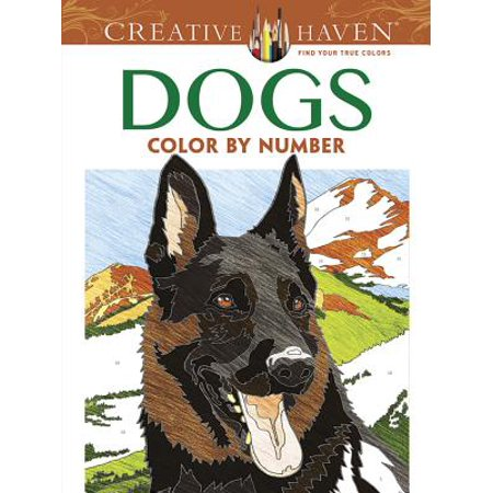 Creative Haven Dogs Color by Number Coloring - Color By Letter Halloween Coloring Pages