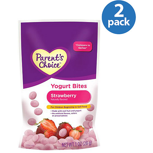 Parent's Choice Strawberry Yogurt Bites, 1 oz (Pack of 2)