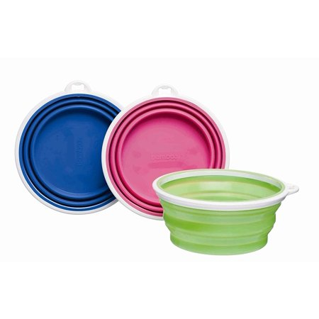 Bamboo Silicone Pop-Up Travel Bowl, Colors -