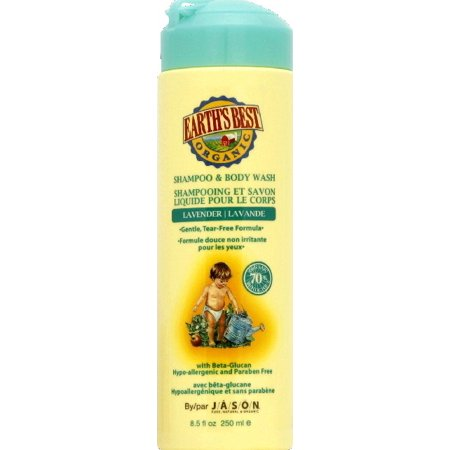 Earth's Best Organic Shampoo and Body Wash, Lavender, 8.5 Fl (Best Body Wash For Fair Skin)