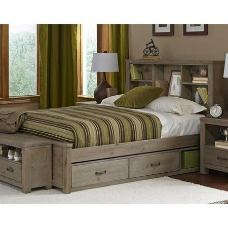 NE Kids Highlands Full Bookcase Storage Bed in Driftwood - image 1 de 1
