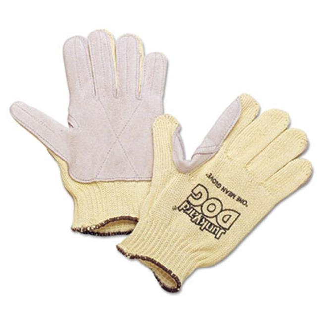 Honeywell Environmental KV18A10050 Mens Junk Yard Dog Kevlar Gloves, Yellow