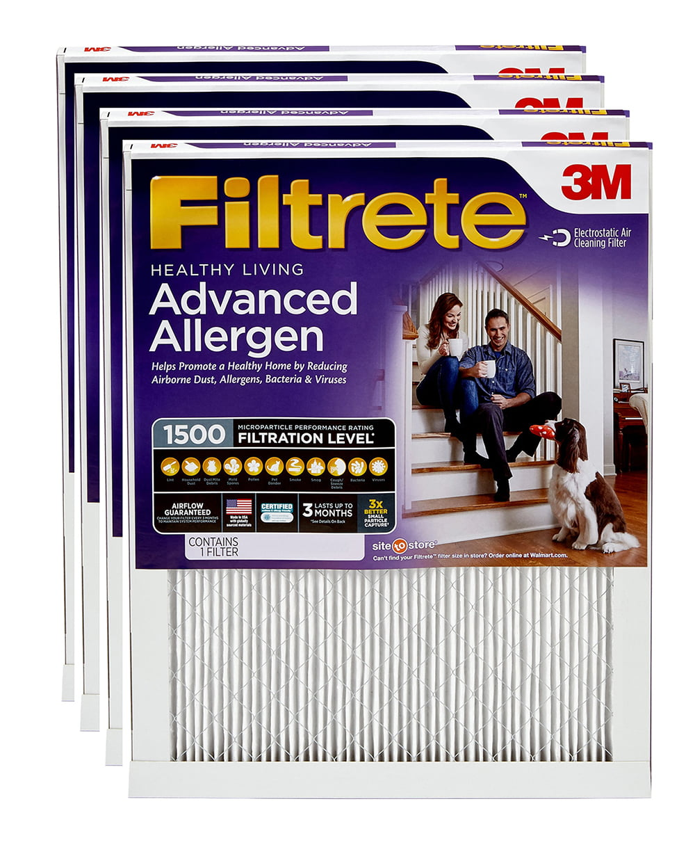 24.7 x 24.7 2 Pack Ultra Allergen Reduction 1500 Filter by 3M 25x25x1