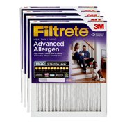Filtrete 16x25x1, Healthy Living Advanced Allergen Reduction HVAC Furnace Air Filter, 1500 MPR, Pack of 4 Filters