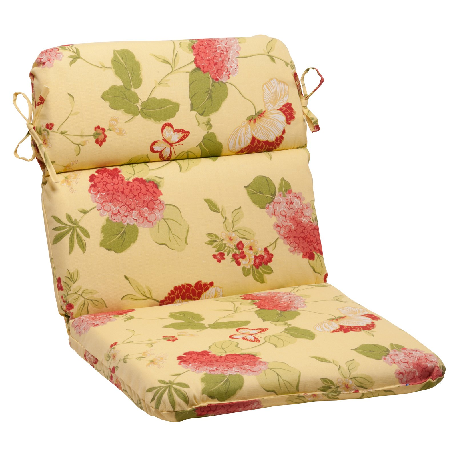 Pillow Perfect Risa Lemonade Rounded Corners Hinged Chair Cushion Walmart Com Walmart Com