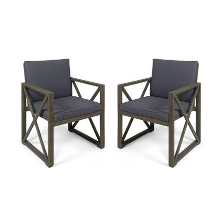 Christopher Knight Home Andora Outdoor Acacia Wood Club ChairsSet of 2by