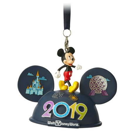 Disney Parks Walt Disney World Mickey 2019 Ear Hat Ornament New with Tags