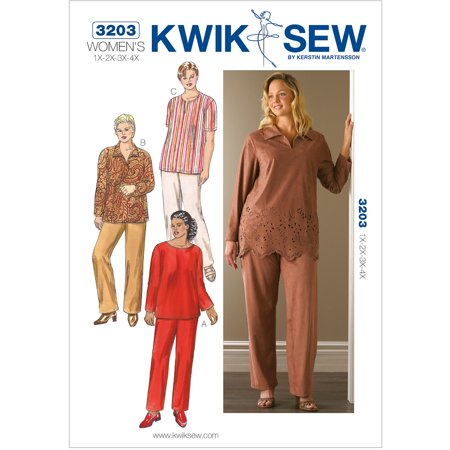 - Kwik Sew Pattern Tunics and Pants, (1X, 2X, 3X, 4X)