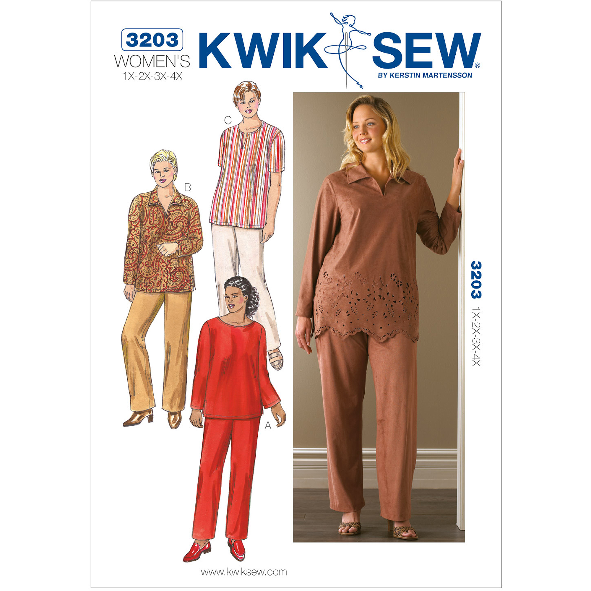 Kwik Sew Pattern Tunics and Pants, (1X, 2X, 3X, 4X)