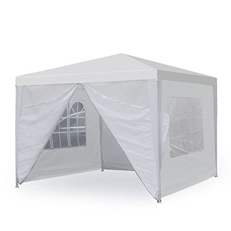 New MTN-G 10 X 10 White Wedding Party Tent Gazebo Canopy with 4 Removable Sidewalls