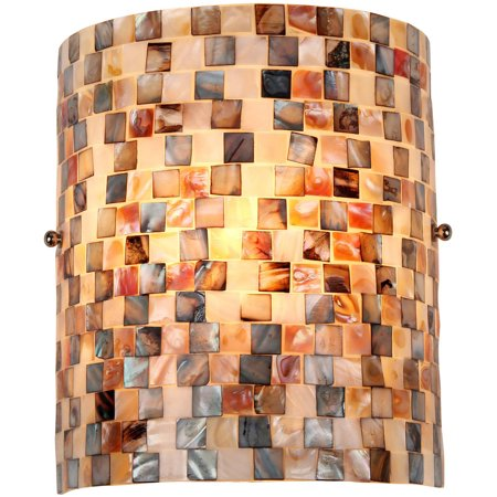 Chloe Lighting Shelley Mosaic 1-Light Wall Sconce, 8.3
