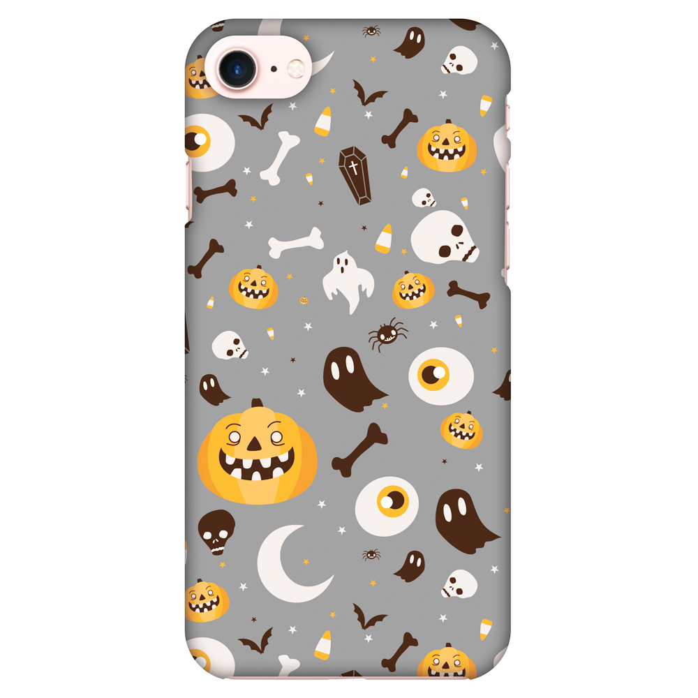 iPhone 7 Case, iPhone 7 Case - Freaky Grey,Hard Plastic Back Cover, Slim Profile Cute Printed Designer Snap on Case with Screen Cleaning Kit