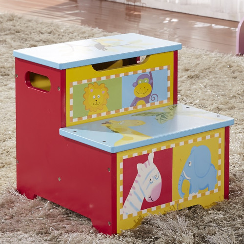 Bellasario Collection 2-Step Kid's Animal Bed Storage Step Stool by Bellasario Collection