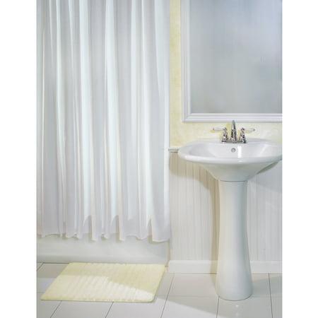 "InterDesign York Fabric Shower Curtain, Standard, 72"" x 72"", White"