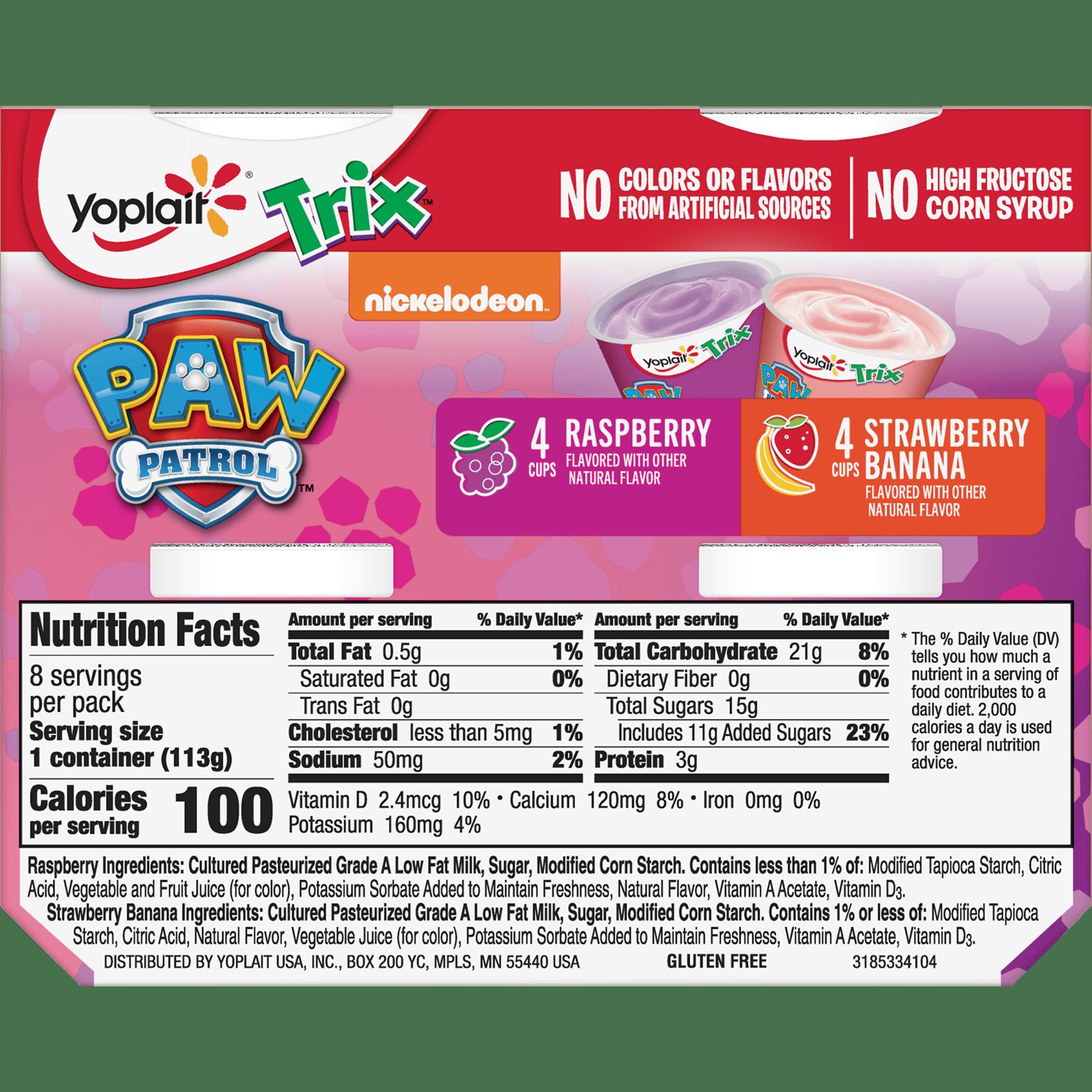 Yoplait Kids Yogurt Trix Raspberry