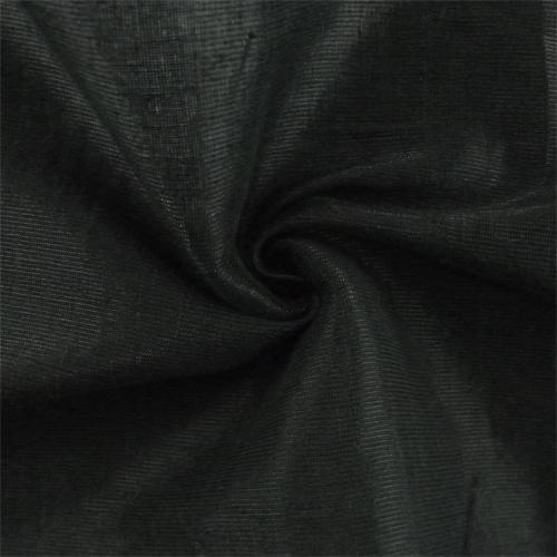 Night Black/Metallic Tiara Linen Lame Drapery Fabric, Fabric By the Yard