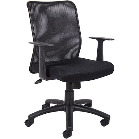 Mesh Back Office Chair With T Arms