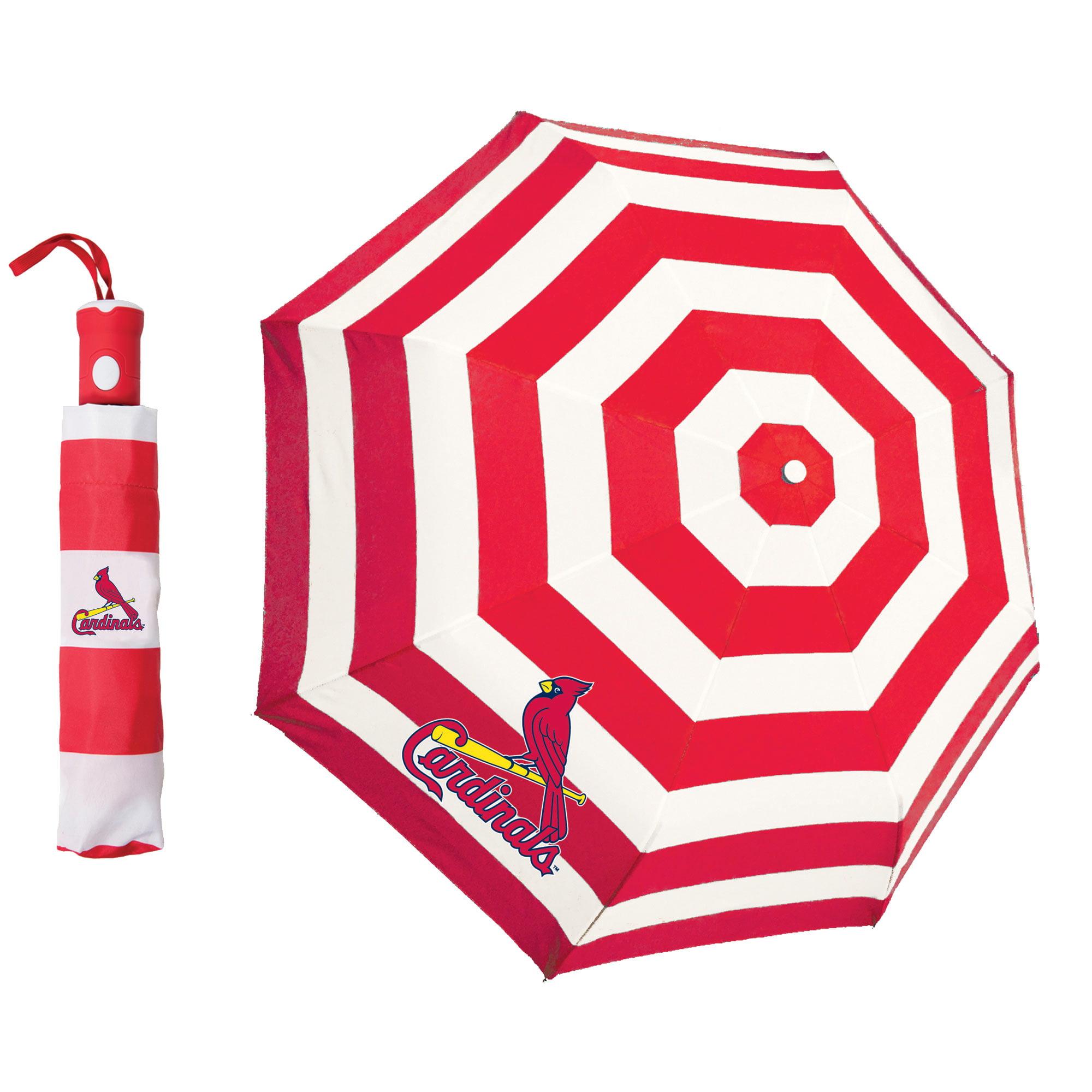 Storm Duds St. Louis Cardinals Cabana Stripe Folding Umbrella - No Size