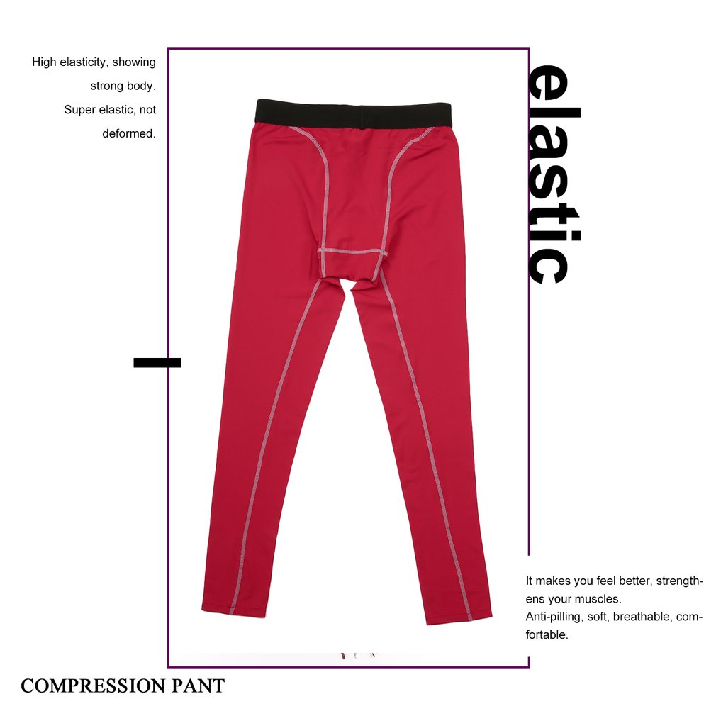 ae8fe2cac0 Men Solid Color Compression Pants Tights Casual Bodybuilding Skinny Leggings
