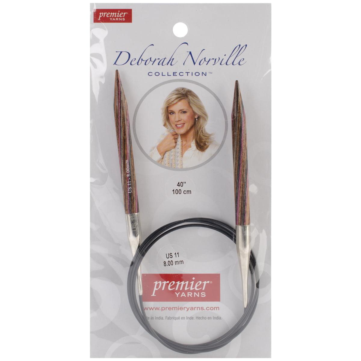 Premier Yarns Deborah Norville 40-Inch Fixed Circular Needles, 11/8.0mm Multi-Colored
