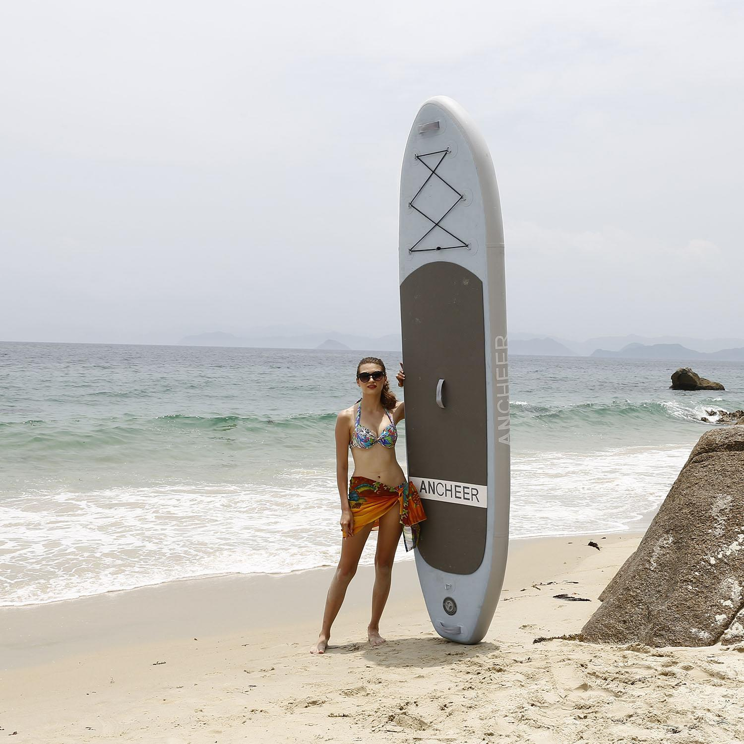 "Clearance! 10'(6""Thick) PVC Inflatable Stand Up Paddle Board with Adjustable Paddle WSY"