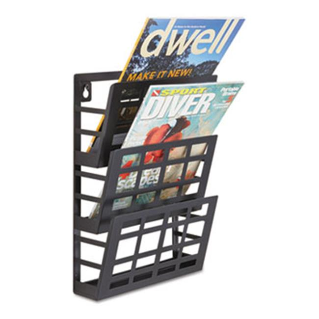 Safco Products 4660BL Grid Magazine Rack, Three Compartments, 9-1 2w x 5-1 2d x 13-1 2h,... by Safco Products