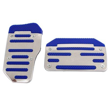 Racing Aluminum Pedal Pad Cover Kit Auto Transmission Blue 2 Pcs (Racing Pedal Covers)