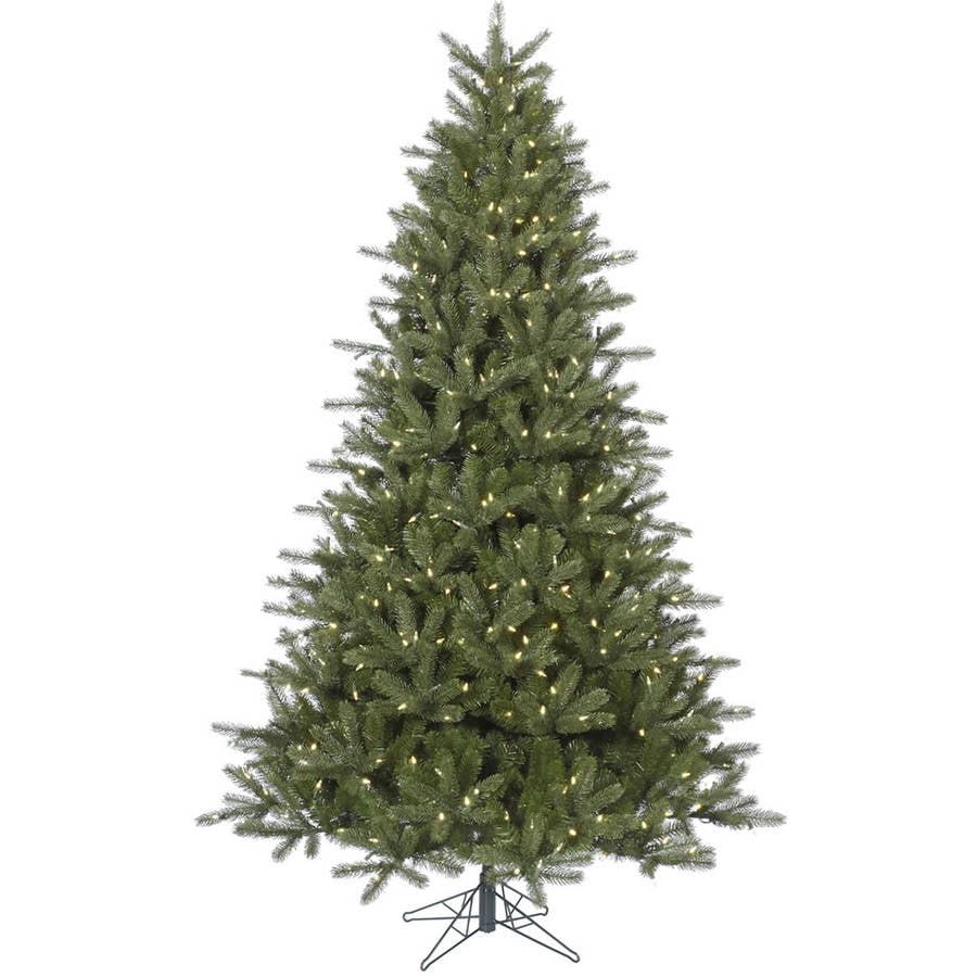 White Fir Christmas Tree: Vickerman Pre-Lit 7.5' Kennedy Fir Artificial Christmas