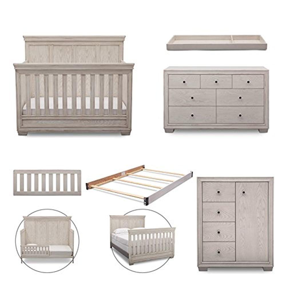 Simmons Kids Ravello 6-Piece Nursery Furniture Set (Conve...