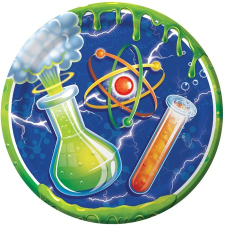 Mad Scientist Dessert Plates, - Mad Science Party Supplies