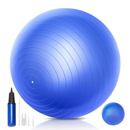 QF Yoga Exercise Ball Set 55cm 65cm 75 cm Swiss Ball Pilates Ball Barre Ball with Mini Exercise Ball,9 Inch Small Bender Ball,for Pilates,Yoga ()