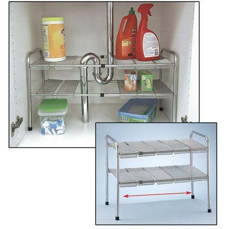Under Kitchen Sink Expandable Storage Shelf Organizer