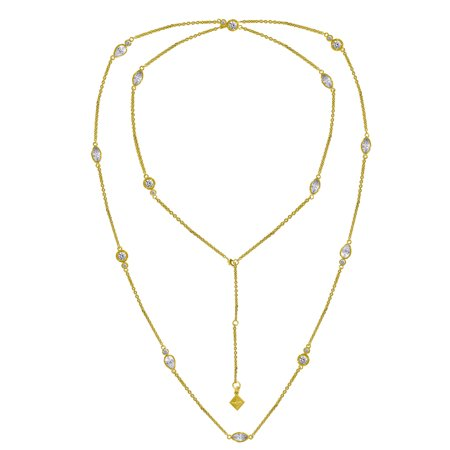 Nicole Wrap (Nicole Miller Yellow Gold Plated Brass PEAR STATION WRAP)