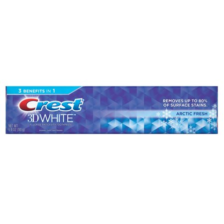 Crest 3D White Arctic Fresh Whitening Toothpaste, Icy Cool Mint, 6.4