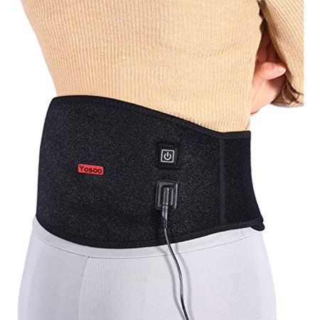 Yosoo Waist Heating Pad Belt Lower Back Heat Wrap Hot and Cold Therapy with 3 Heating Grade
