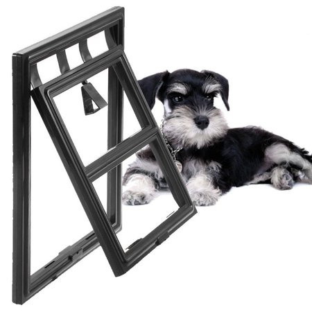 Leshp 2 Way Magnetic Automatic Lockable Pet Screen Door Dog Gate Way