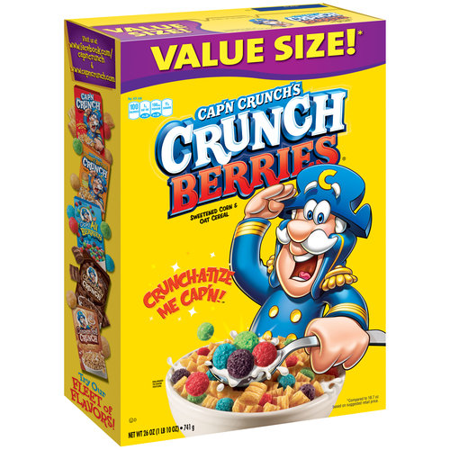 Cap'n Crunch's Crunch Berries Sweetened Corn & Oat Cereal, 28 oz