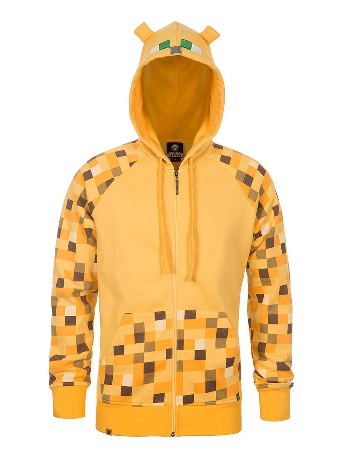 Minecraft Ocelot Youth Yellow Premium Zip-Up Hoodie, X-Large