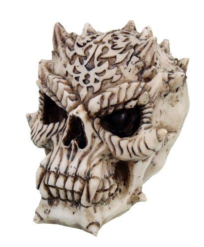 5 Inch Evil Devil Horned Skeleton Skull Resin Statue Figurine by PTC by PTC